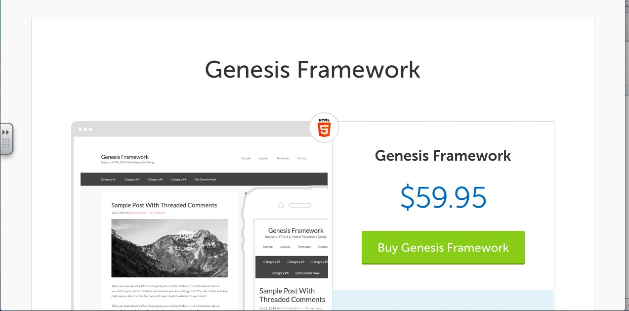 Genesis Framework Screenshot