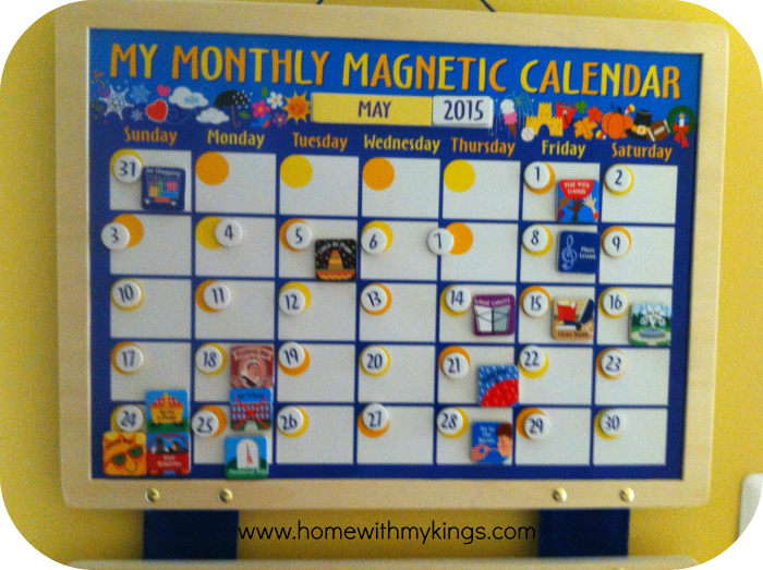 the best monthly calendar for kids