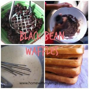 Black Bean Waffle Collage
