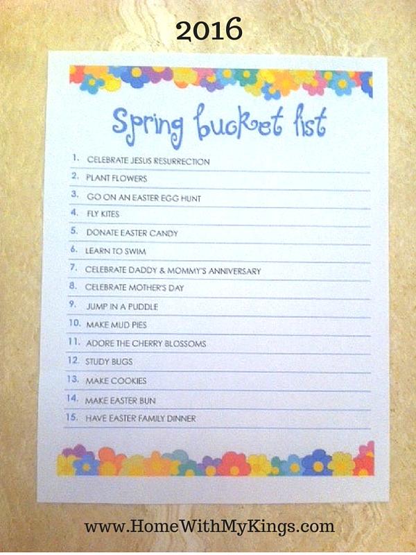 Spring Bucket List 2016