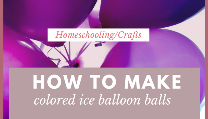 How to Make Colored Ice Balloon Balls