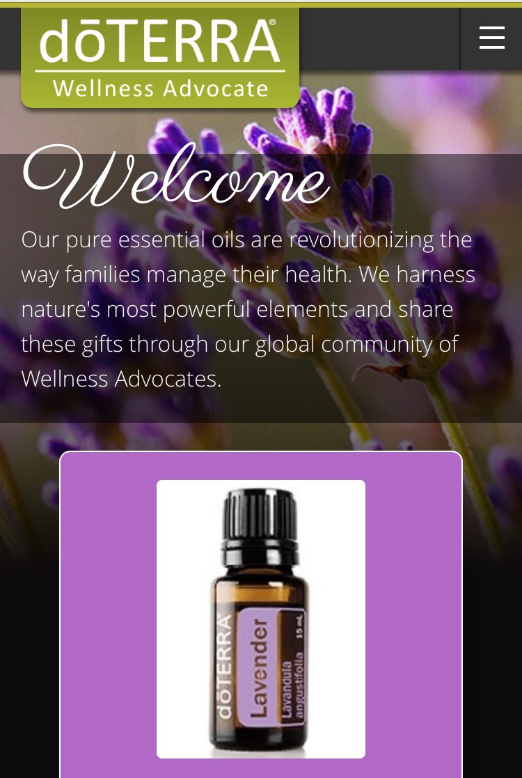 DoTerra Oils Wellness Advocate